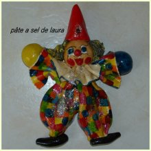 clown en pâte a sel