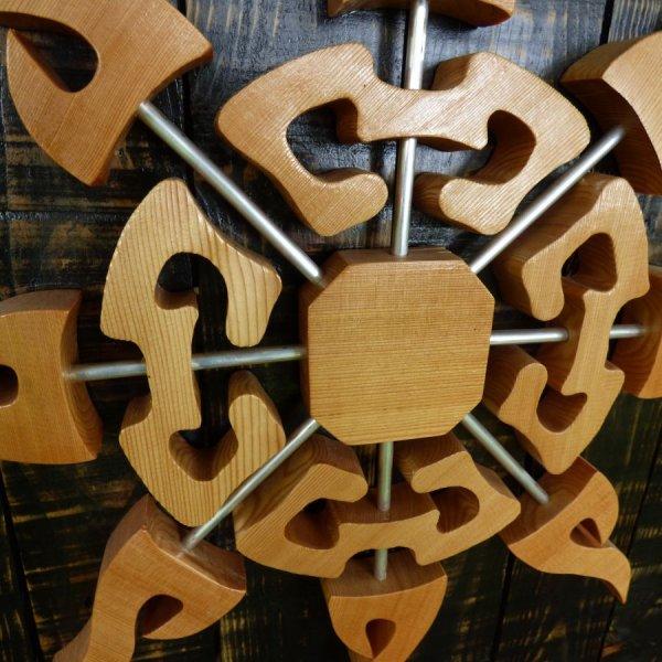"""""""Soleil de mélèze"""" cadre décoratif en bois"""