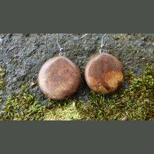 Boucles d'oreilles en loupe de Chêne