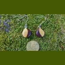 Boucles d'oreilles 2 essences de bois