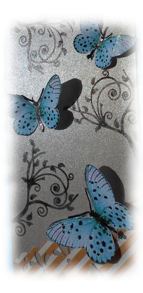 """Etiquette carte tag scrap bordurée shabby bleu orange beige """"Plaisir d'offrir"""" pour cadeau, fête, amitié, amour, anniversaire, remerciement,"""