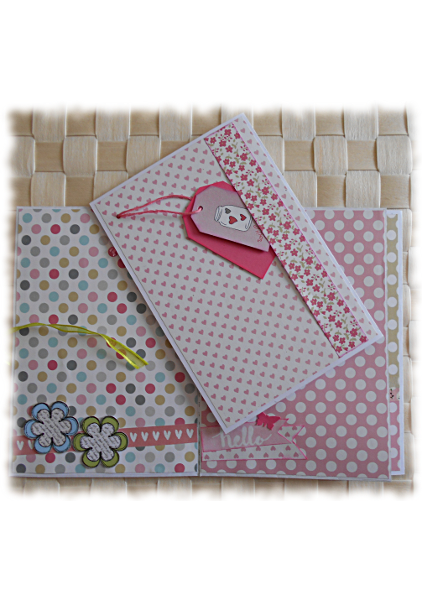 "Journal intime ou Calepin album ou carnet papiers assortis ""Special Day"" rose vert multicolore"