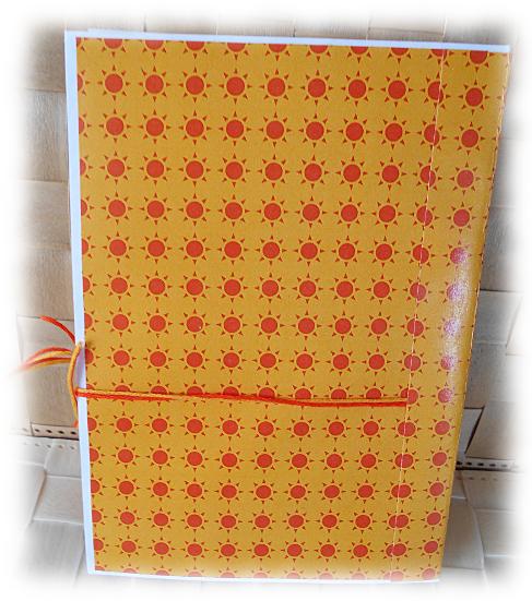 """Livre de recettes, journal intime, aux couleurs du soleil """"Summer Days"""" jaune orange vert"""