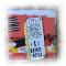 "Mini album Amoureux ""I Love You"" imprimés flashy bleu orange jaune rose noir"