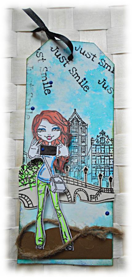 Signet marque-pages pour bouquin de jeunesse (roman, bullet journal, agenda) girl - fille en bleu vert noir