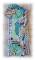 """Tag ou carte """"Lady sensuelle des années 1920, Bonheur"""" en papier mixed media dentelle et fil"""