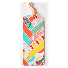 Marque-page, onglet, en carton multicolore flashy rose orange turquoise pour réveiller votre lecture