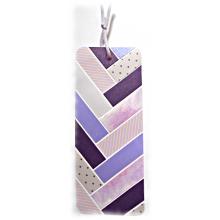 Retrouvez votre page aisément avec ce joli marque-pages pastel violine mauve en papiers