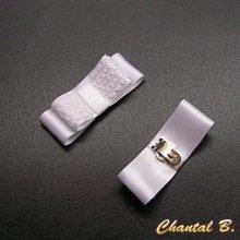 clips chaussures mariage noeud satin blanc et dentelle