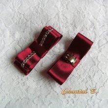 clips chaussures rouge mariage soirée cérémonie noeud bordeaux mariée