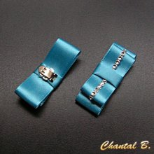 clips turquoise chaussures mariage satin turquoise mariée