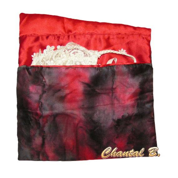 sac pochette maquillage pochon rangement maquillage et produits de toilette parement de soie