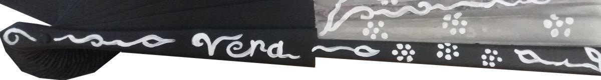 """Eventail en soie dessiné et peint à la main """"Note du Japon"""""""