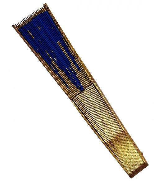 """Eventail en soie dessiné et peint à la main """"Les orgues"""""""