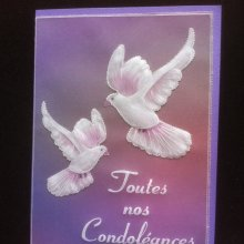 carte double faire part de condoléance