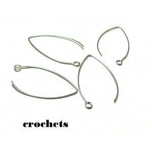 Longues Boucles d'oreille pour Femme en Ardoise Emaillée bleu et blanc sur tige en Acier Inoxydable,  Création Artisanale