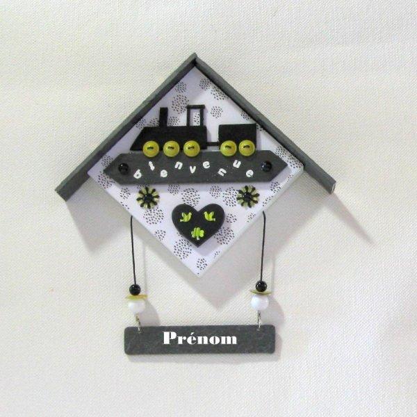Cadre Maison pour Déco  Chambre Bébé Personnalisable, Création Unique