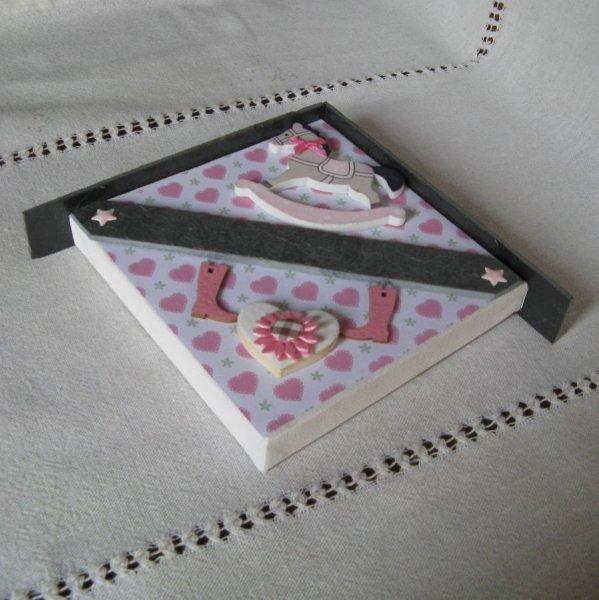Cadre Plaque de Porte Rose pour Chambre Fille, Création Unique Personnalisable