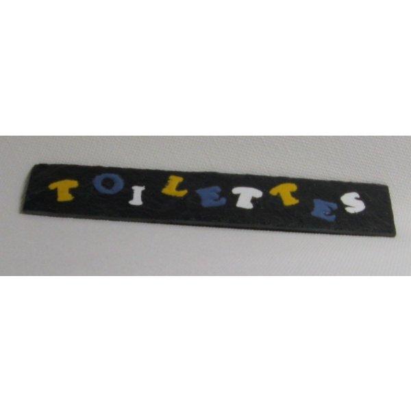 plaque de porte multicolore en ardoise émaillé sans trou, création artisanale
