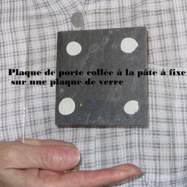 Plaque de Porte TOILETTES en Ardoise Emaillée, a Poser sans trou, Création Artisanale