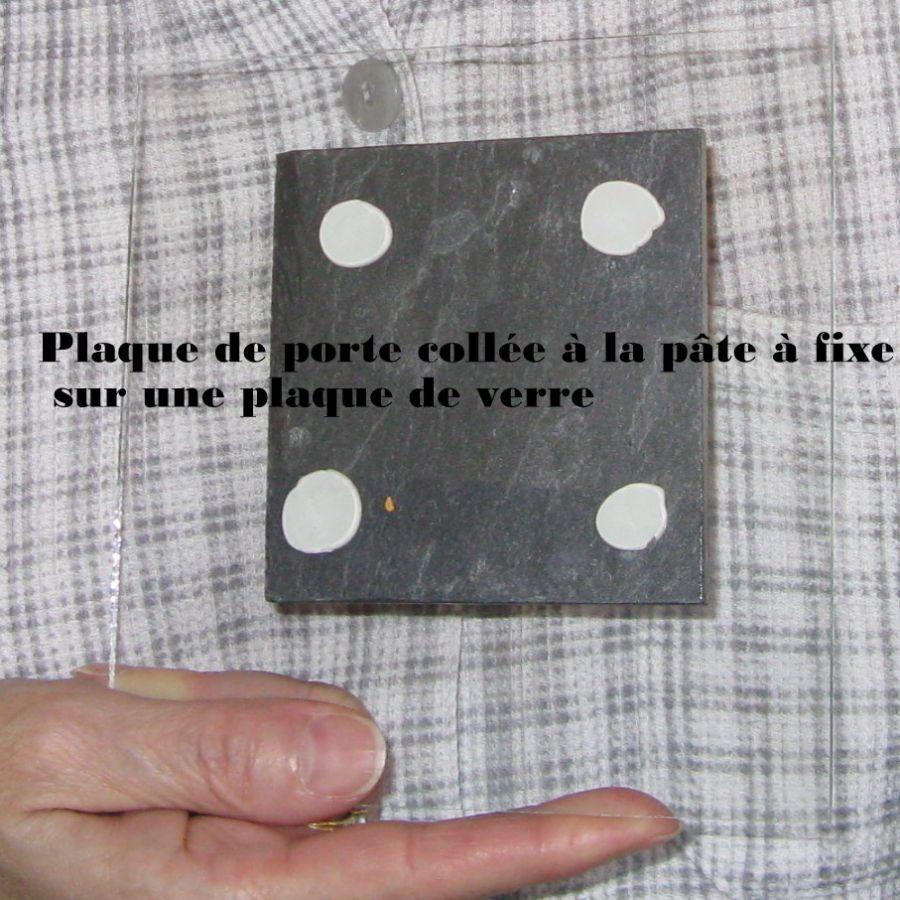 Plaque de Porte Toilette en Ardoise et Bois, a poser sans trou, Création Unique
