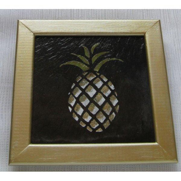 tableau ananas sur ardoise