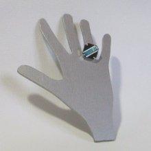 Bague réglable en ardoise émaillée bleu, création fait main