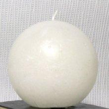 bougie blanche ronde 8 cm de diamètre