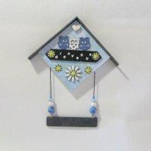 Cadeau Bébé, Cadre de Naissance Chouettes pour Bébé,  Création Unique