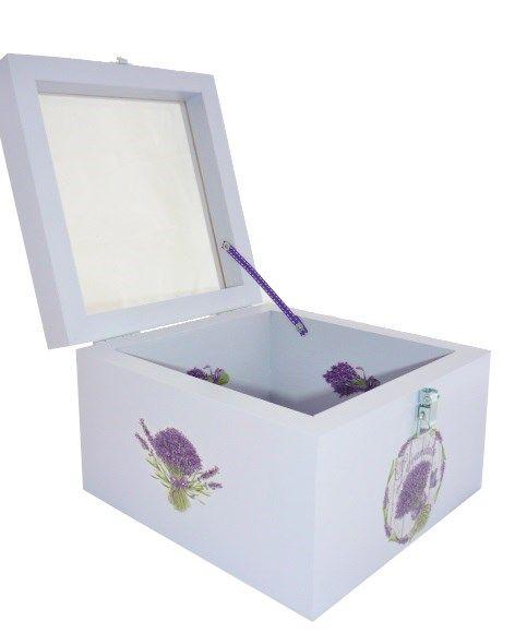 Boite en bois et son couvercle en verre. Model : lavendula.