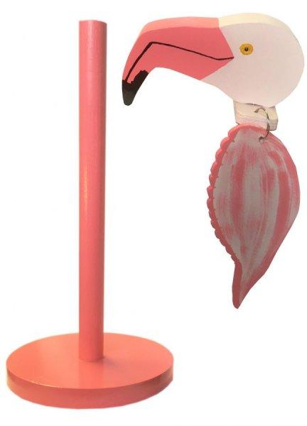 """""""Le flamant rose"""" porte essuie-tout"""
