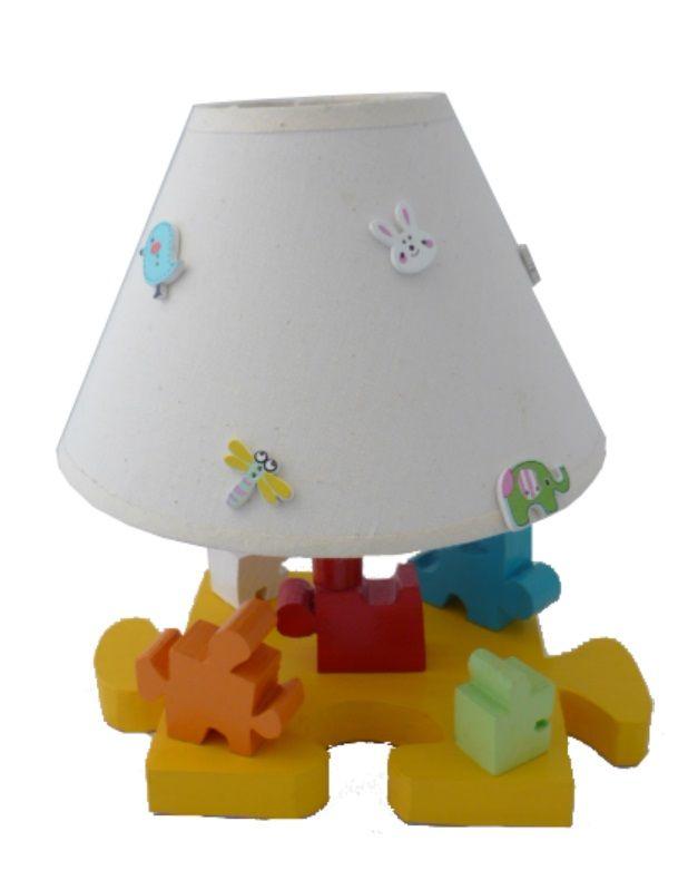 Lampe De Chevet Enfant « Le Puzzle » H 30 Cm