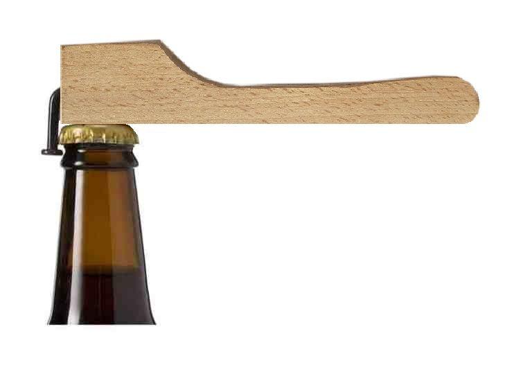 Ouvre bouteille / décapsuleur a clous en bois de hêtre