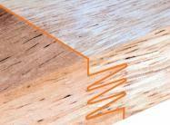 Planche à découper spécial apéro en bois de hêtre naturel FSC model guitare emplacement 2 verres