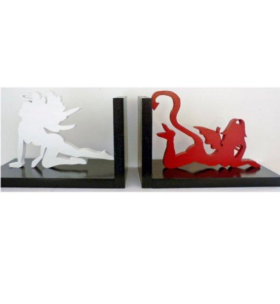 Serre-livres en bois « Ange et diablesse sexy» moderne