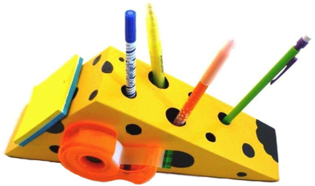 Set de rentrée scolaire en bois model : souris Pot a crayon et Porte manteau mural a une patère