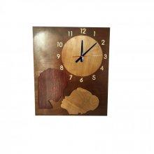 """Horloge géante """"le baiser""""  en bois"""