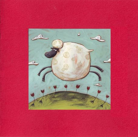 Carte double Mouton rouge