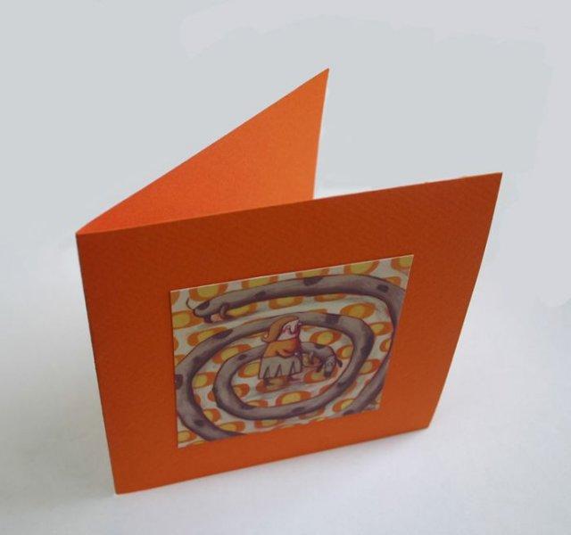 Carte double rouge Boîte de sardines