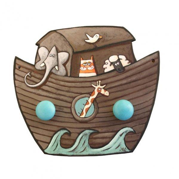 Porte-mateaux Arche de Noé pour enfant