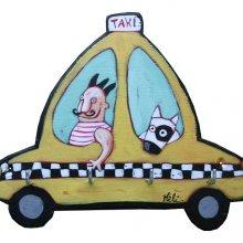 Accroche-clés ou torchons Taxi new-yorkais