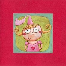 Carte double Princesse rouge