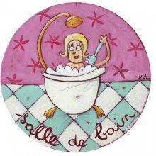 Plaque de porte Salle de bain Fifties
