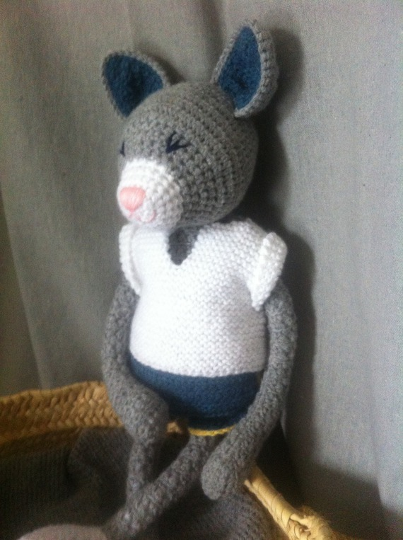 Doudou au crochet Thomas le Chat
