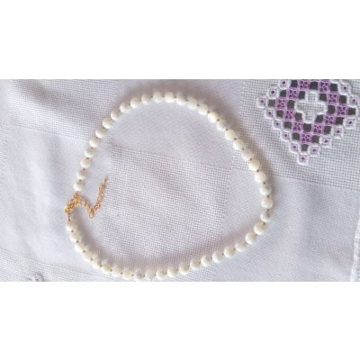 Collier  perles nacre blanches 636
