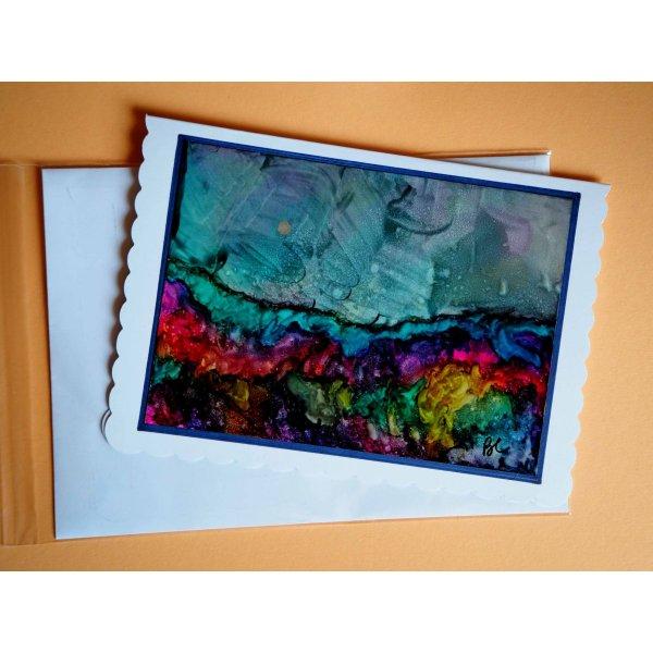 Peinture alcool : Carte tableau, CLAIR DE