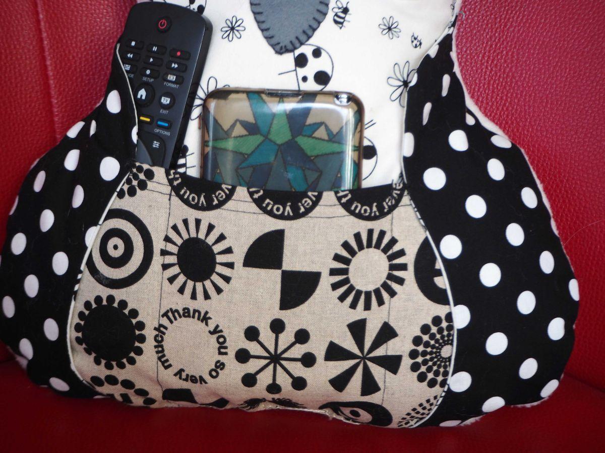 Chouette/hibou debout 41x35cm, ton noir/blanc porte télécommandes, téléphone, cadeau fête