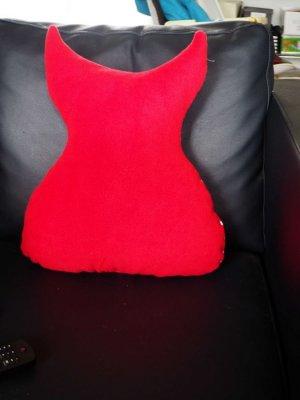Chouette/hibou debout 41x35cm, tons rouges porte télécommandes, téléphone, cadeau fête