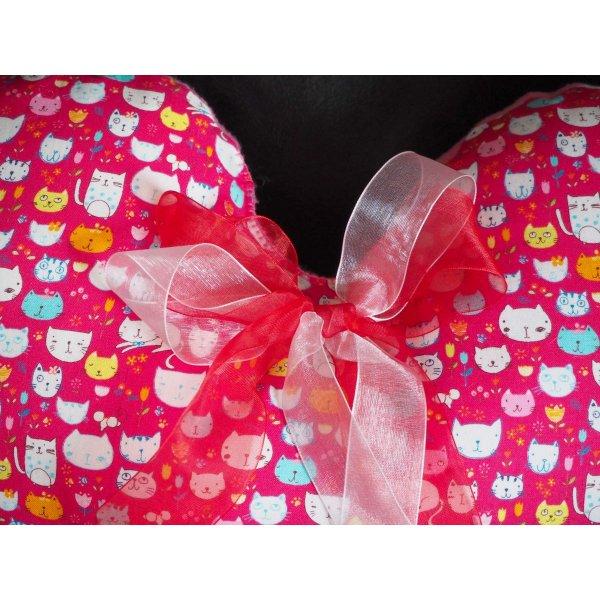 Gros coussin coeur cadeau Saint Valentin