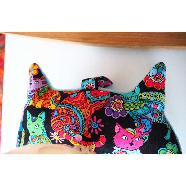 Coussin nuque , modèle animal, tisu chats, forme chat
